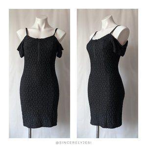 silence + noise ▪ Black Lace Open Shoulder Dress